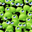 Abstract seamless pattern with cute monsters. — 图库矢量图片 #23348444
