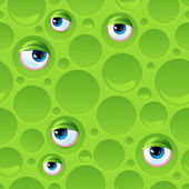 Abstract seamless pattern with bubbles and eyes. — Vecteur