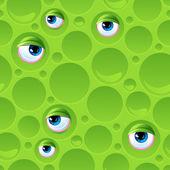 Abstraktní vzor bezešvé bubliny a očima. — Stock vektor
