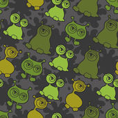 Abstract seamless pattern with cute monsters. — Stock Vector