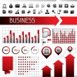 Royalty-Free Stock Vector Image: Set of infographics and business icons.