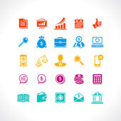 Set of business and money web icons. — Stock Vector