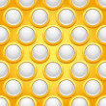 patrones sin fisuras con joyas redondas — Vector de stock