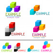Set of abstract brands from vector cubes. — Stock Vector