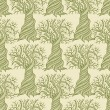 Seamless pattern with curling trees. — Vecteur