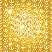 Gold chain seamless abstract pattern. — Stock Vector