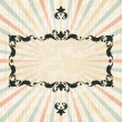 Royalty-Free Stock Vectorielle: Retro background with vintage floral ornate frame.