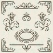 Calligraphic design elements and page decoration vintage frames. - ベクター素材ストック
