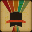 Retro poster with abstract grunge background. - Imagen vectorial