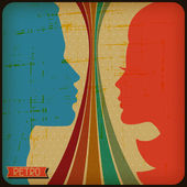 Retro poster with abstract grunge background. — Stock Vector