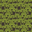 Seamless pattern with trees. - Grafika wektorowa