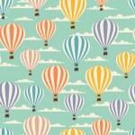 Retro seamless travel pattern of balloons. — Stock Vector