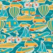 Retro seamless travel pattern. — Stock Vector