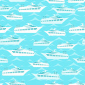 Retro seamless travel pattern of cruise liners. — Stock Vector