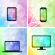 Stock Vector: Electronic devices backgrounds.