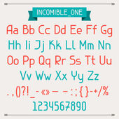 Incomible one classic style font. — Stock Vector