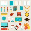 School and education icons set. — Stock Vector