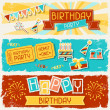 Happy Birthday horizontal banners. — Stock Vector #27401487
