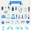 Medical and health care icons set. — Stock Vector #27577889