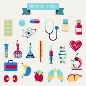 Medical and health care icons set. — Stock Vector