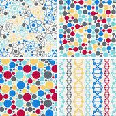Molekulární struktura bezešvé vzory. — Stock vektor