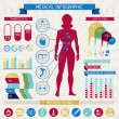 Medical infographic elements collection. — Cтоковый вектор