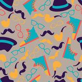 Patrón inconsútil del estilo hipster. — Vector de stock