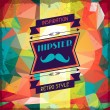 Hipster background in retro style. — Stock Vector #28142531