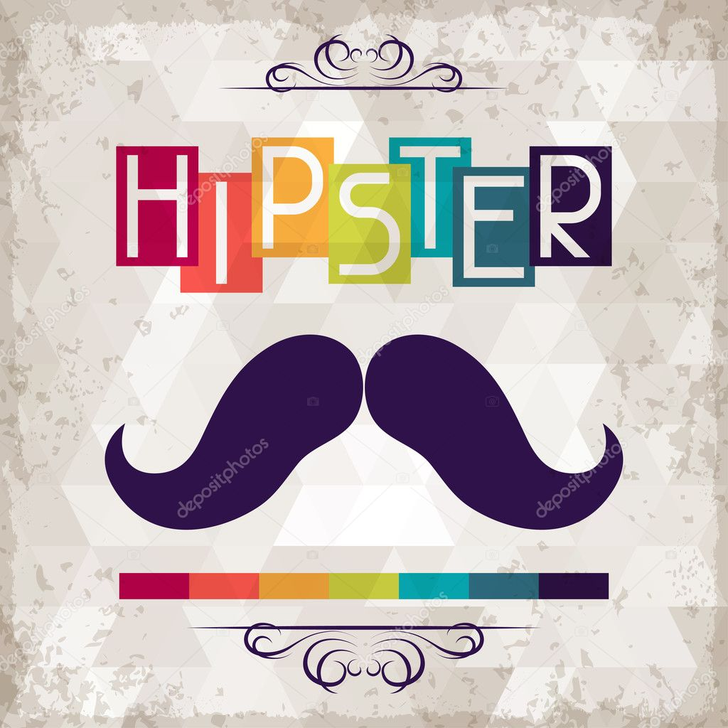 Hipster background in retro style. — Stock Vector ...