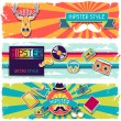 Hipster horizontal banners in retro style. — Stock Vector #28193833