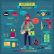 Infographic elements in retro style. Hipster features. — Stock Vector