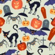 Stock Vector: Halloween seamless pattern.