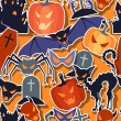Vector de stock : Halloween seamless pattern.