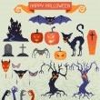 Happy Halloween elements and icons set for design. — Stock Vector