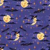 Halloween seamless pattern with moon. — Stock Vector