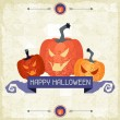 Happy Halloween grungy retro background. — Stock Vector