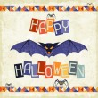 Happy Halloween grungy retro background. — Stock Vector #28677231