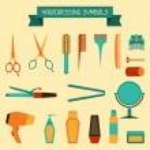 Hairdressing symbols. — Stock Vector #29112907