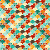 Seamless pattern in retro style. — Stock Vector