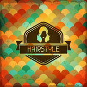 Hairdressing background in retro style. — Stock Vector