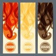 Hairstyle vertical banners. — Stock Vector