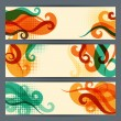 Hairstyle horizontal banners. — Stock Vector