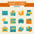 Set of money and banking icons. — Stock Vector