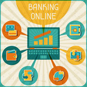 Banking online infographic. — Stock Vector