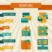 Conceptual banking and business background. — Stockvector