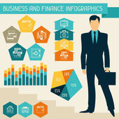 Business and finance infographics. — Stock Vector