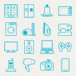 Set of home appliances and electronics icons. — Stock Vector #30104431