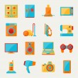Set of home appliances and electronics icons. — Imagen vectorial