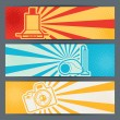 Home appliances and electronics horizontal banners. — Imagens vectoriais em stock