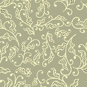 Old lace background, floral ornament. Vector texture. — Stock Vector